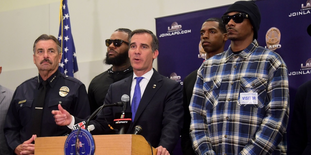 The Game and Snoop Dogg Took to the Streets of L.A. in Light of This Week's Violence The two met with city officials in an emotional plea for peace.